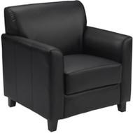 Flash Furniture HERCULES Diplomat Series Black LeatherSoft Chair- BT-827-1-BK-GG