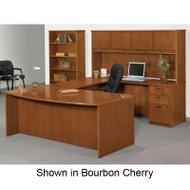 Basyx BW Veneer Series Executive Desk Package U-Shaped - BWPackageC