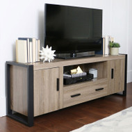 "Walker Edison Urban Blend 60"" TV Stand , Ash Grey/Black - W60UBC22AG"