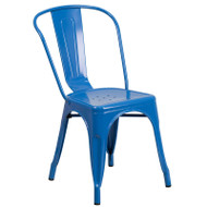 Flash Furniture Blue Metal Indoor-Outdoor Stackable Chair - CH-31230-BL-GG