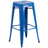 "Flash Furniture Blue Metal Indoor-Outdoor Barstool 30""H - CH-31320-30-BL-GG"