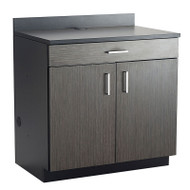 Safco Hospitality Base 2-Door Cabinet with Drawer, Asian Night / Black - 1701AN