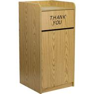 Flash Furniture Indoor Laminate Waste Receptacle Oak - MT-M8520-TRA-OAK-GG