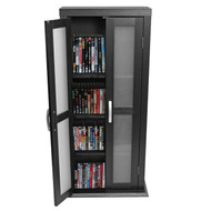 Walker Edison Wood DVD Tower Black - DT41BL