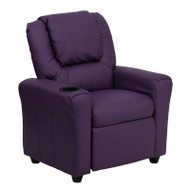 Flash Furniture Kid's Recliner with Cup Holder Purple Vinyl - DG-ULT-KID-PUR-GG