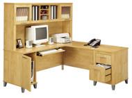 Bush Wc81410k Somerset 71 L Shaped Desk Maple Cross Free