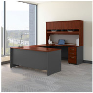 BBF Bush Series C Package U-Shaped Desk with Hutch and Storage Package Hansen Cherry - SRC094HCSU