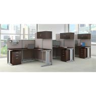 BBF Bush Office-in-an-Hour L-Shaped Desk Workstation 3-units Mocha - OIAH006MR