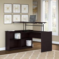 "Bush Cabot Sit to Stand Desk 52""W 3 Position Espresso Oak - WC31816-03"