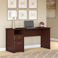 """Bush Cabot Computer Desk with Drawers 60""""W Harvest Cherry - WC31460-03"""