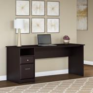 "Bush Cabot Computer Desk with Drawers 72""W Espresso Oak - WC31872-03"
