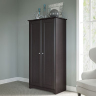 Bush Cabot Collection Tall Storage Cabinet with Doors Espresso Oak - WC31897-03