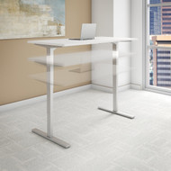Bush Move 80 Series 48W x 30D Height Adjustable Standing Desk in White - HAT4830WHK