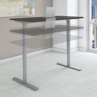 Bush Move 80 Series 60W x 30D Height Adjustable Standing Desk in Storm Gray - HAT6030SGK