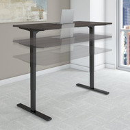 Bush Move 80 Series 72W x 30D Height Adjustable Standing Desk in Storm Gray with Black Base - HAT7230SGBK