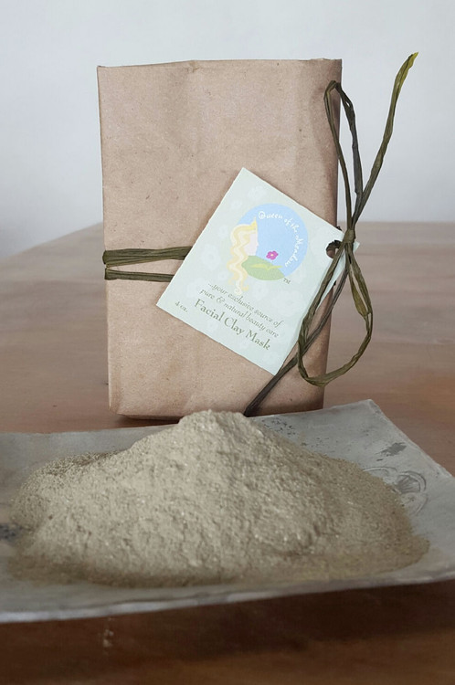 Face Mask, clay mask, facial mask, best face mask, oily skin, organic, herbal, natural, handmade by queenofthemeadow 4 oz / 12 oz