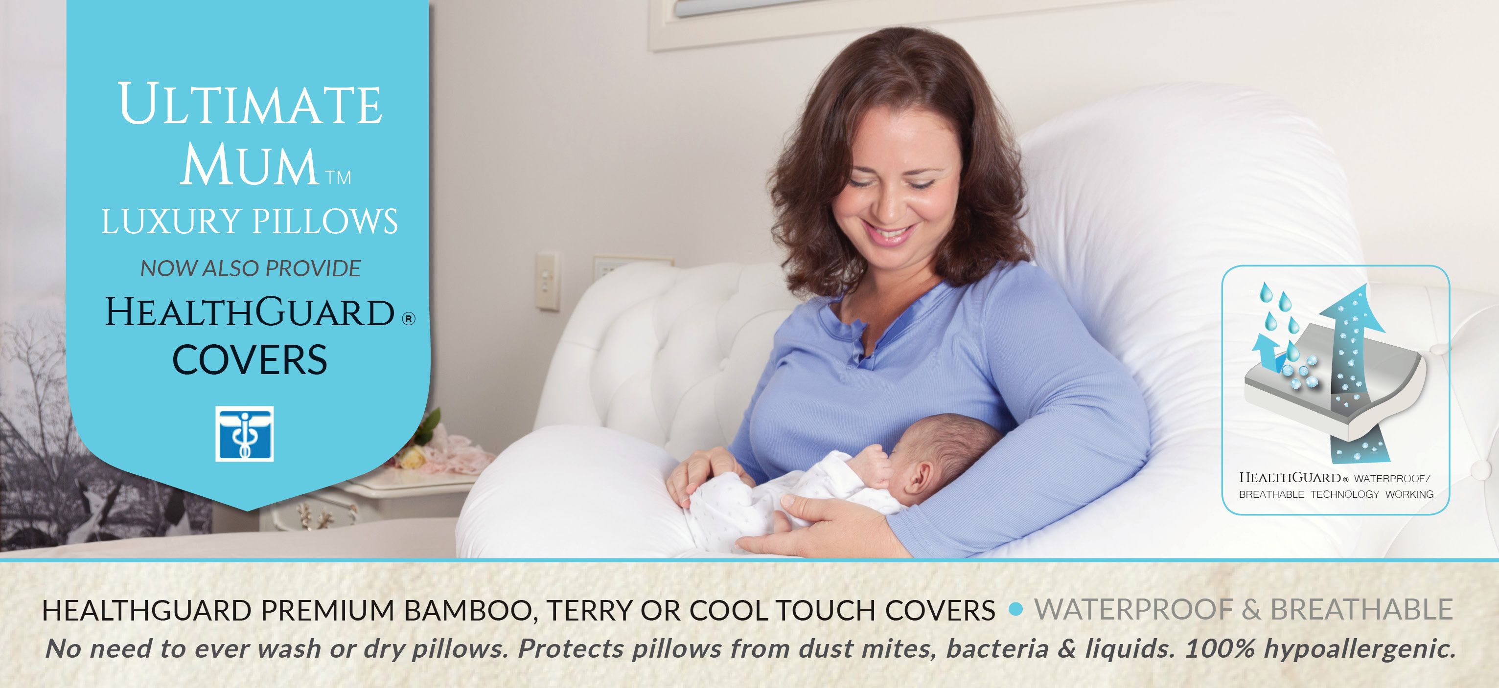 Ultimate Mum Luxury Pillows with HealthGuard
