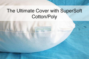 "A Luxurious SuperSoft Cotton/Poly Woven Pillow Cover for ""The Ultimate  Pillow"""