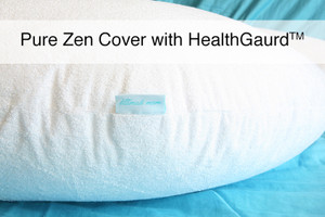 "Premium Bamboo Terry - Pregnancy and Nursing / Feeding Pillow Cover with HealthGuard for ""The Pure Zen  Pillow"""