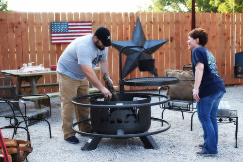 30 inch Wildlife Fire Pit With Grill Top