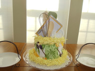 Yellow/Green/Olive 18 pc. Kitchen Towel Cake