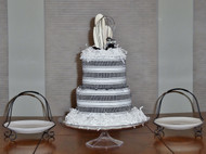 Black and White New 21 pc. Kitchen Towel Cake