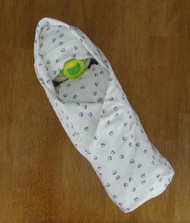 Boy's Eco Paw Prints Swaddle Diaper Baby