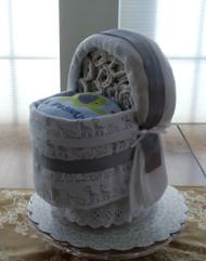 "Eco Boy's ""Little Peanut"" Bassinet Diaper Cake"