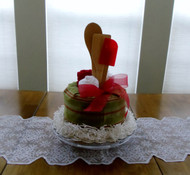 Red/Green/White Happy Holidays Kitchen Towel Cake