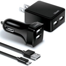 Dual Car Charger, AC Adapter & Cable