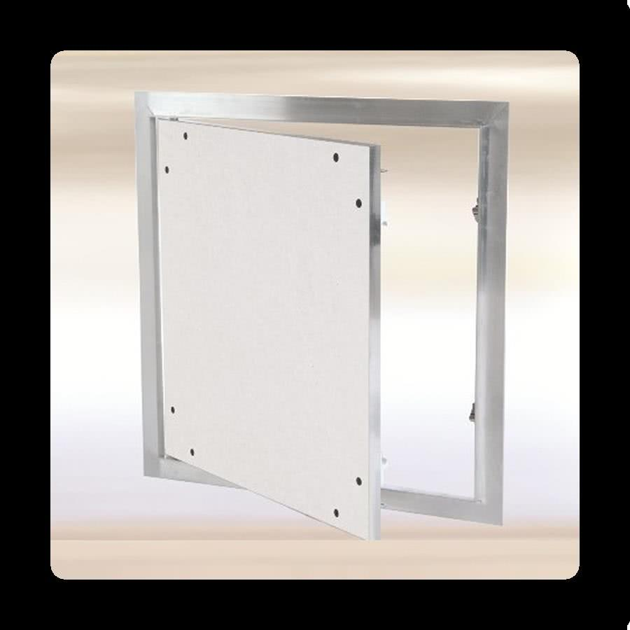 Fixed Hinges - flange behind drywall