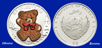 2011 Palau Cuddly Bear $5 Silver Proof