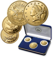 3-piece Gold Clad Carson City Tribute Proof Set