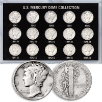 World War II Mercury Dime Set 41-45
