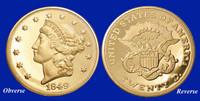 1849 $20 Liberty Tribute Proof