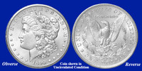 1890-O Morgan Silver Dollar - Collector's Circulated Condition