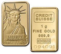 1 gm. .9999 Fine Gold Ingot