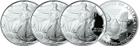First-Year-of-Issue Silver Eagle Proof Mint Mark Set