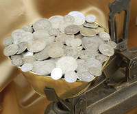 Solid Silver Coins By The Pound - Half Pound Bag