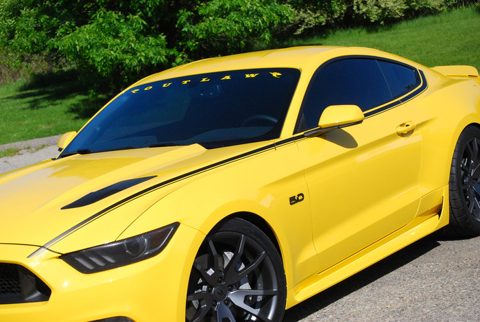 2015-17 Mustang Outlaw Graphics, Coupe
