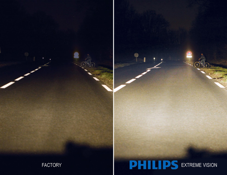Factory Bulb vs Philips X-treme Vision Bulb