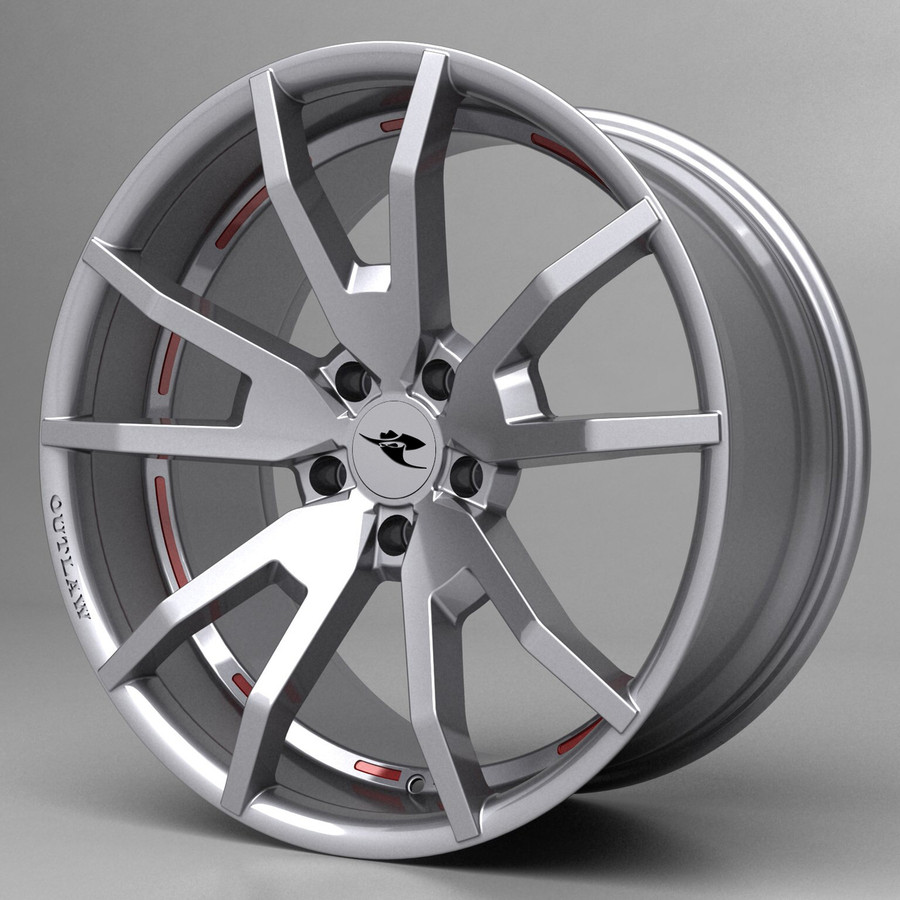 2005-14 Mustang Outlaw Wheel, HiHo w/ OPTIONAL Graphic Inserts