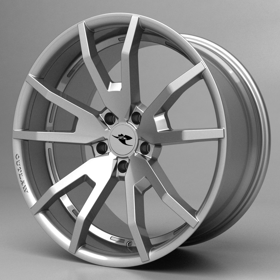 2005-14  Mustang Outlaw Wheel, Hi-Ho Silver w/o OPTIONAL Graphic Inserts