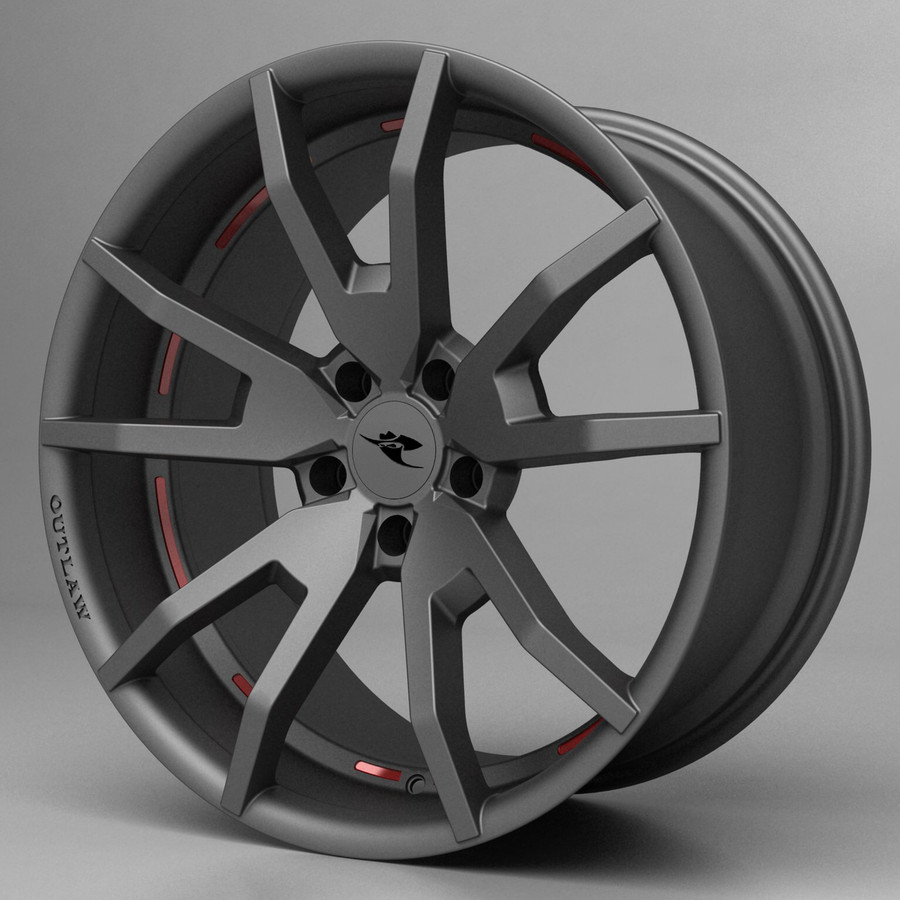 Outlaw Reflective Wheel Graphic Set - Red