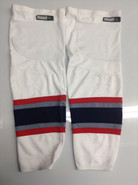 REEBOK EDGE CUSTOM HOCKEY SOCKS HARTFORD WOLF PACK WHITE PRO STOCK AHL XL USED
