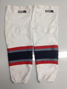 REEBOK EDGE CUSTOM HOCKEY SOCKS HARTFORD WOLF PACK WHITE PRO STOCK AHL LARGE USED