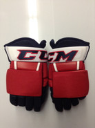 "CCM HG97 Pro Stock Custom Hockey Gloves 14"" Rochester Americans AHL THP"