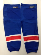 REEBOK EDGE CUSTOM HOCKEY SOCKS NEW YORK RANGERS ROYAL BLUE PRO STOCK NHL XL USED
