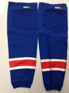 REEBOK EDGE CUSTOM HOCKEY SOCKS NEW YORK RANGERS ROYAL BLUE PRO STOCK NHL XL+ USED