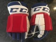 "CCM U+ CL Pro Stock Custom Hockey Gloves 15"" Hartford Wolfpack AHL used"